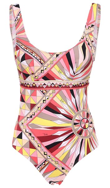 Emilio Pucci Printed one piece swimsuit in pink,multi