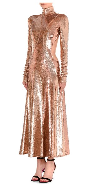 EMILIO PUCCI Sequined Asymmetric-Cutout Gown - Emilio Pucci sequined gown with figure-flattering seam...