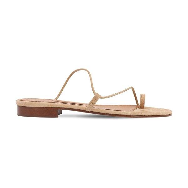 EMME PARSONS 10mm susan leather thong slides in tan