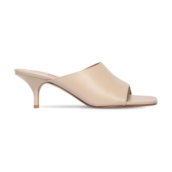 EMME PARSONS 50mm sabine leather thong sandals in beige