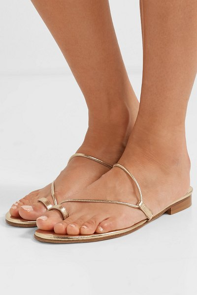 EMME PARSONS susan metallic leather sandals in gold