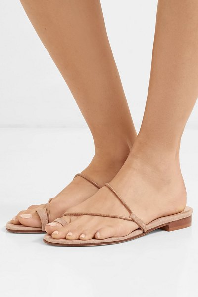 EMME PARSONS susan suede and leather sandals in neutral