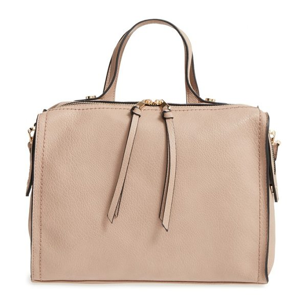 Emperia Faux leather satchel in taupe - Carry your essentials in a retro-cool faux-leather...