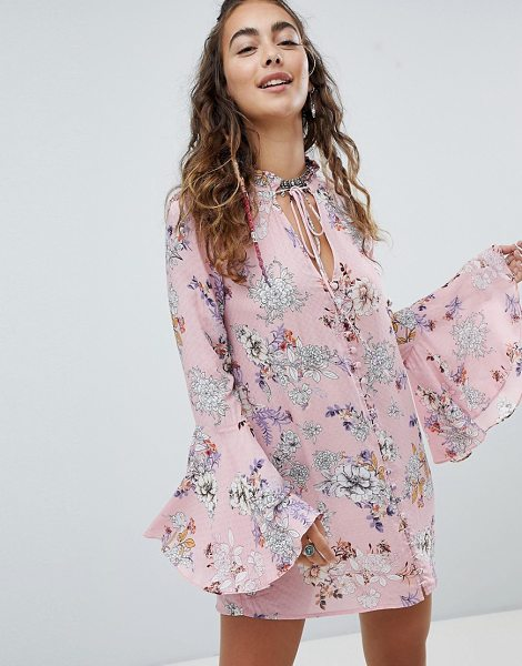 En Cr me en creme shift dress with fluted sleeves in pinkfloral - Dress by En Creme, Floral design, Break out the blooms,...