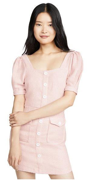 Endless Rose button down mini dress in pink