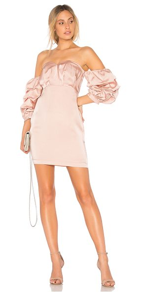 "Endless Rose Satin Dress in pink - ""Self: 100% polyLining: 70% poly 30% cottonLining 2:..."