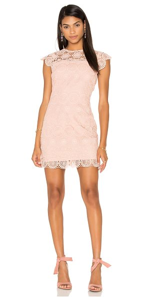 Endless Rose Crew Neck Lace Mini Dress in pink - Self: 100% polyLining: 70% poly 30% cotton. Hand wash...