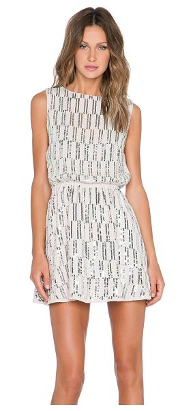 Endless Rose Embellished Tile Dress in beige - Self & Lining: 100% poly. Dry clean only. Lined. Cut-out...