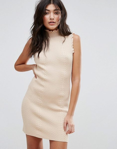 "Endless Rose High Neck Textured Bodycon Dress in pink - """"Dress by Endless Rose, Textured fabric, High neck,..."