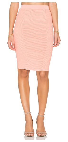 Endless Rose Knit Midi Skirt in coral - 65% rayon 35% nylon. Hand wash cold. Unlined. Stretch...