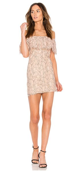 "Endless Rose Lace Off The Shoulder Dress in pink - ""Self & Lining: 100% poly. Hand wash cold. Fully lined...."