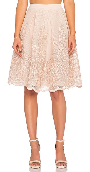 Endless Rose Lexi midi skirt in tan - Self: 100% polyContrast: 97% poly 3% spandexLining: 100%...