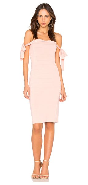 "Endless Rose Off the Shoulder Dress in pink - ""65% rayon 35% nylon. Hand wash cold. Unlined. Sleeve..."