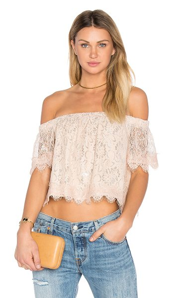 Endless Rose Off The Shoulder Lace Top in blush - Shell: 95% poly 5% elastaneLining: 100% poly. Hand wash...