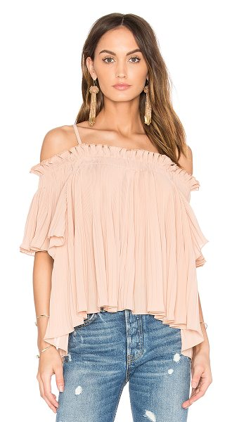 ENDLESS ROSE Off the Shoulder Top - Poly blend. Hand wash cold. Elastic neckline. Adjustable...