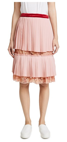 ENDLESS ROSE pleated lace skirt - This party-ready endless rose skirt is composed of...