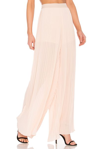 Endless Rose Pleated Palazzo Pants in pink - Self: 100% polyLining: 97% poly 3% spandex. Hand wash...