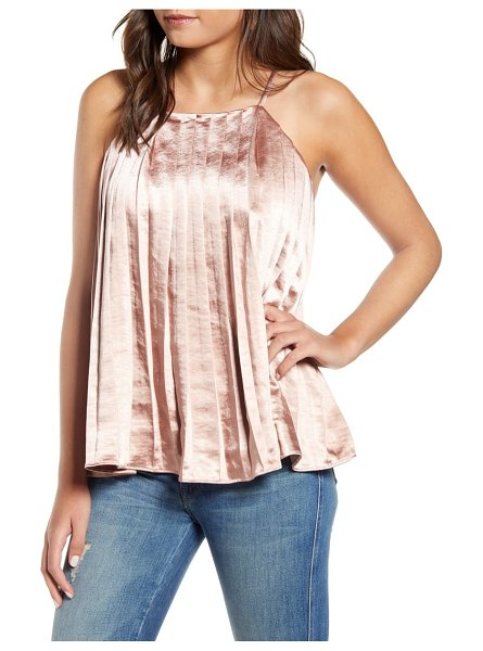 Endless Rose pleated tank top in pink