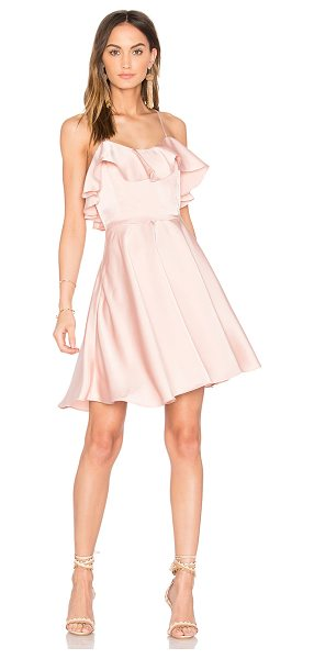 Endless Rose Ruffled Fit and Flare Dress in pink - Self: 98% poly 2% spandexLining: 97% poly 3%...
