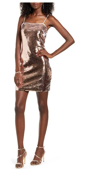 Endless Rose sequin body-con dress in metallic