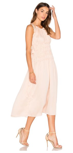 ENDLESS ROSE Strappy Maxi Dress - 100% poly. Hand wash cold. Fully lined. Shoulder tie...