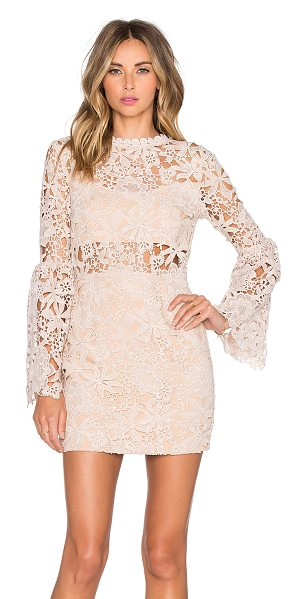 Endless Rose Willamette lace dress in blush - Cotton blend. Dry clean only. Fully lined. Sheer lace...