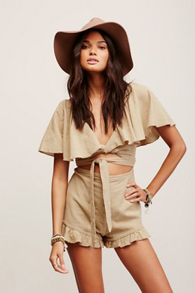Endless Summer Gretchen romper in bamboo - Made from our gauzy Endless Summer fabric this romper...