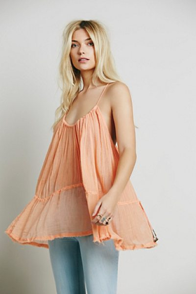 Endless Summer Pretty sweet tunic in coral - Made from our sheer and gauzy Endless Summer fabric this...