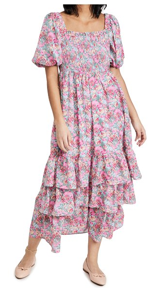 English Factory floral print maxi dress in pink multi