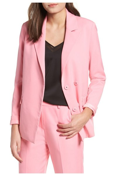 English Factory peaked lapel jacket in pink