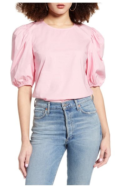 English Factory puff sleeve top in pink