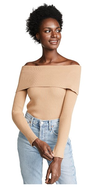 English Factory ribbed sweater in latte