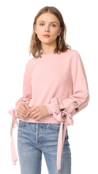 English Factory tied up sweatshirt in blush - Exclusive to Shopbop. This blush pink ENGLISH FACTORY...