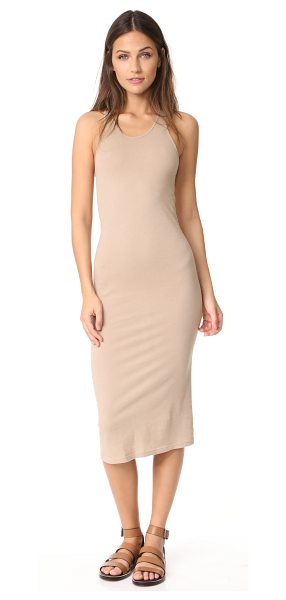 Enza Costa bold racer midi dress in khaki - A simple cotton Enza Costa midi dress with sporty...