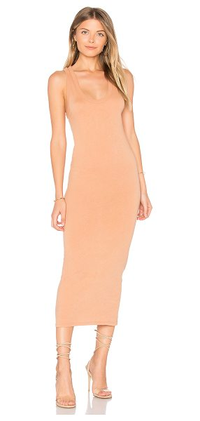 Enza Costa Bold Racer Midi Dress in brown
