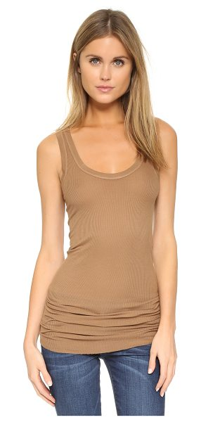 ENZA COSTA Bold ribbed tank - A soft, lightweight Enza Costa tank in a slim...