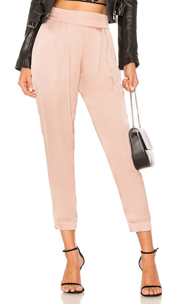 """Enza Costa Pleated Jogger in rose - """"54% viscose 46% cotton. Hand wash cold. Elasticized..."""
