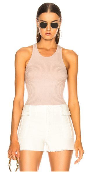Enza Costa Rib Baseball Tank in brown,neutrals