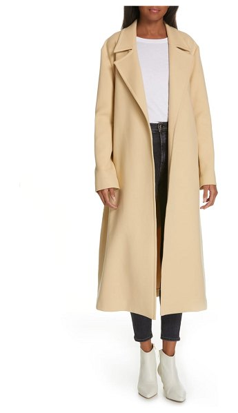 Equipment alyssandra trench coat in beige - A trench-style wrap coat with timeless elegance and...