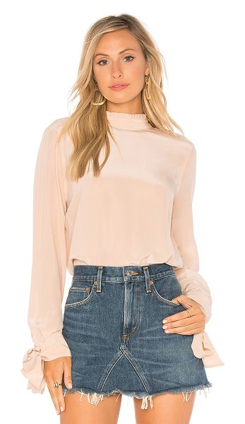 EQUIPMENT Aurora Blouse in blush - 100% silk. Dry clean only. Mock neckline with back tie...