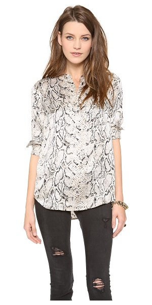 EQUIPMENT Ava blouse - Snakeskin print brings an exotic element to a silk...