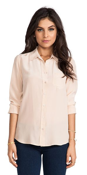 Equipment Brett vintage wash blouse in peach - 100% silk. Dry clean only. Button front closure. Front...
