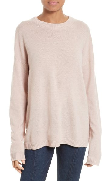 Equipment bryce oversize cashmere sweater in nostalgia rose - The silky softness and premium warmth of cashmere...