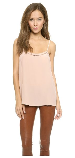 Equipment cara cami in nude - Delicate square cutouts trim the top of this Equipment...