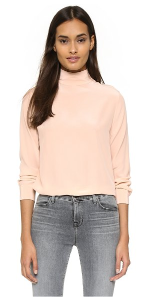 Equipment Curtis mock neck silk blouse in nude - A pared down Equipment top in luxe silk crepe. Button...