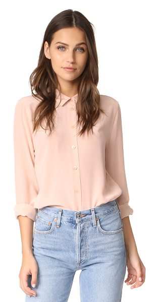 Equipment essential blouse in french nude - Washed silk lends an effortless feel to this classic...