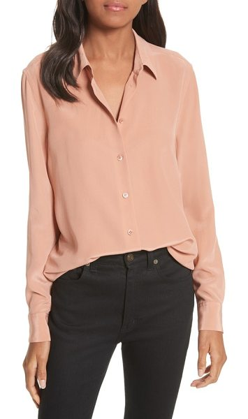 Equipment essential silk blouse in wilted rose