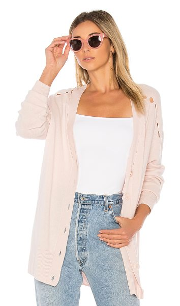 Equipment Gia Cardigan in pink - Cashmere blend. Hand wash cold. Button front closures....