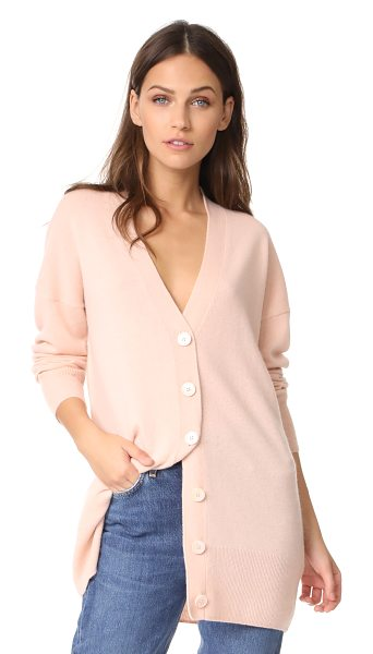 Equipment gia cashmere cardigan in french nude - An oversized Equipment cardigan rendered in soft,...
