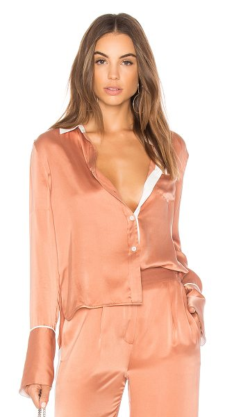 Equipment Huntley Top in rose - 100% silk. Dry clean only. Front button closure. Chest...